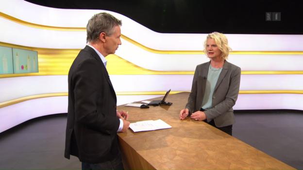 Video «Studiogespräch mit Sabine Rohrmann, Ernährungswissenschafterin der Uni Zürich» abspielen