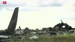 Video «Separatisten schiessen Flugzeug ab» abspielen
