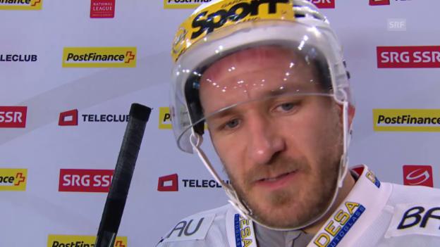 Video «Eishockey: Interview mit Steve Hirschi (italienisch)» abspielen