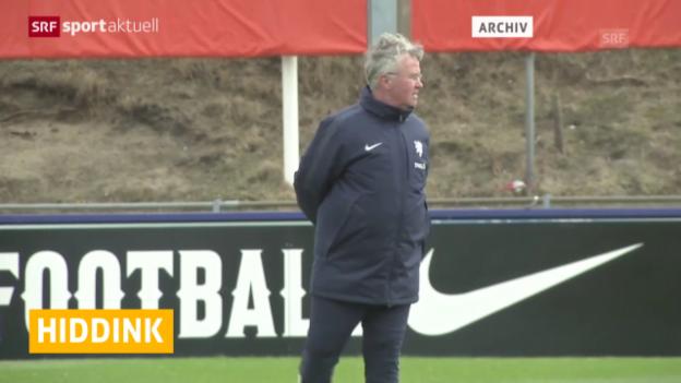 Video «Fussball: Guus Hiddink springt bei Chelsea ein («sportaktuell»)» abspielen