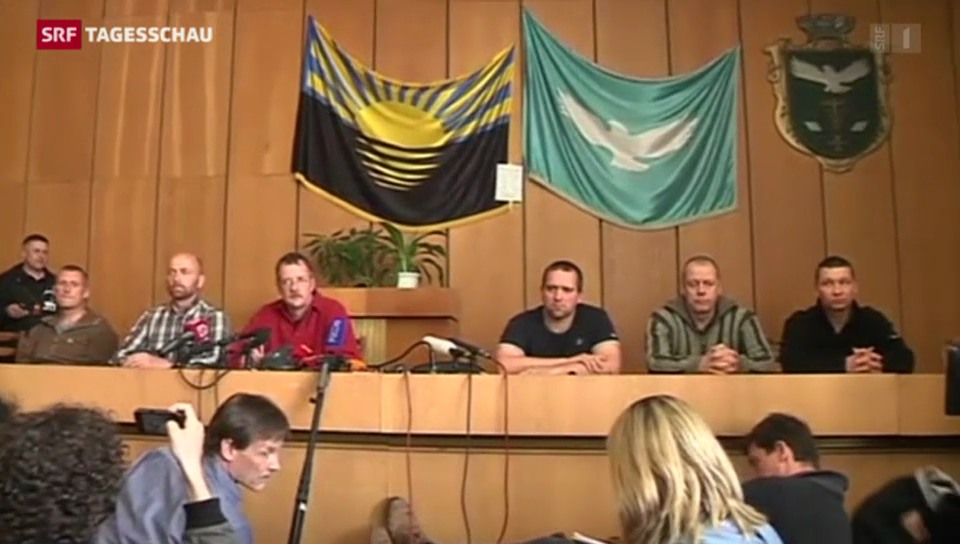 Pro-russische Separatisten bekennen sich zu Geiselnahme