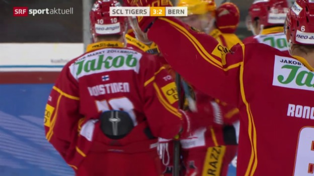 Video «Eishockey: NLA, SCL Tigers - Bern» abspielen