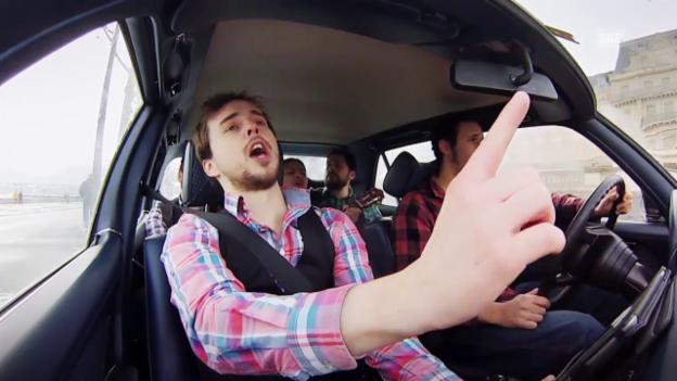Video «Autokaraoke mit Kaceo» abspielen