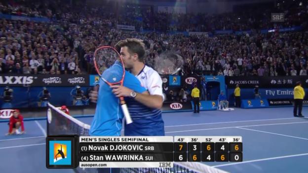 Video «Tennis: Australian Open 2015, Halbfinal, Djokovic-Wawrinka» abspielen