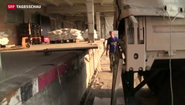 Video «Konvoi in Lugansk» abspielen