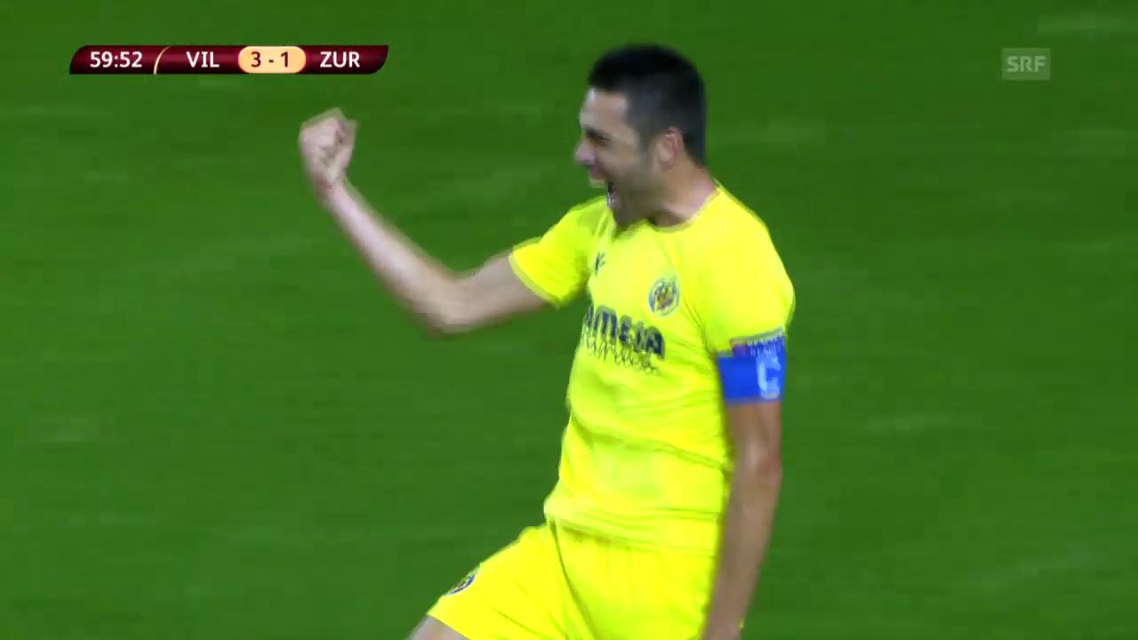 Fussball: EL, Villarreal-FCZ, Tor Soriano