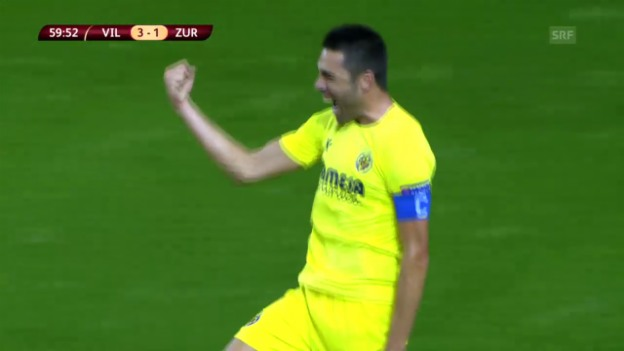 Video «Fussball: EL, Villarreal-FCZ, Tor Soriano» abspielen