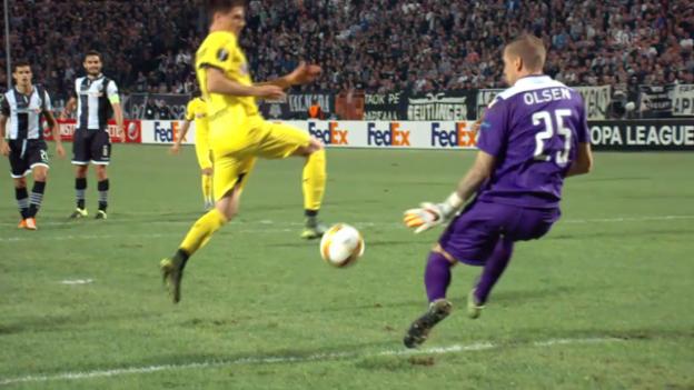 Video «Fussball: Europa League 2015/16, 2. Gruppenspiel, PAOK - Dortmund» abspielen