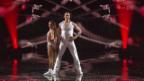 Video «Ioulia & Fabien kombinieren Rock'n'Roll und Gymnastik-Band» abspielen