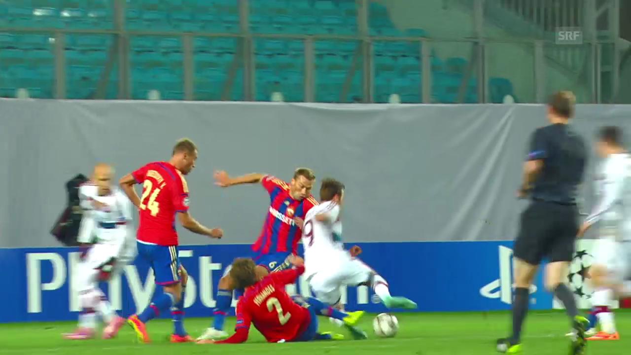 Fussball: CL, ZSKA-Bayern, Highlights