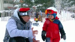 Video «Der Sohnemann auf dem Snowboard – Fabien Rohrers Nachwuchs» abspielen