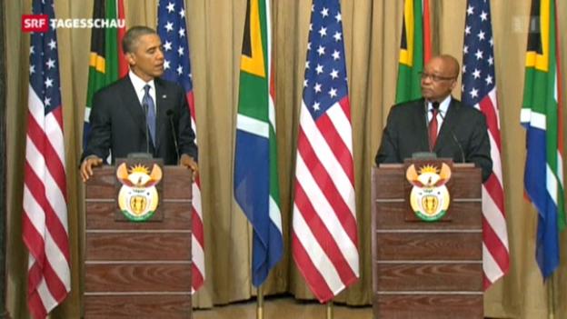 Video «Obama auf Südafrika-Besuch» abspielen