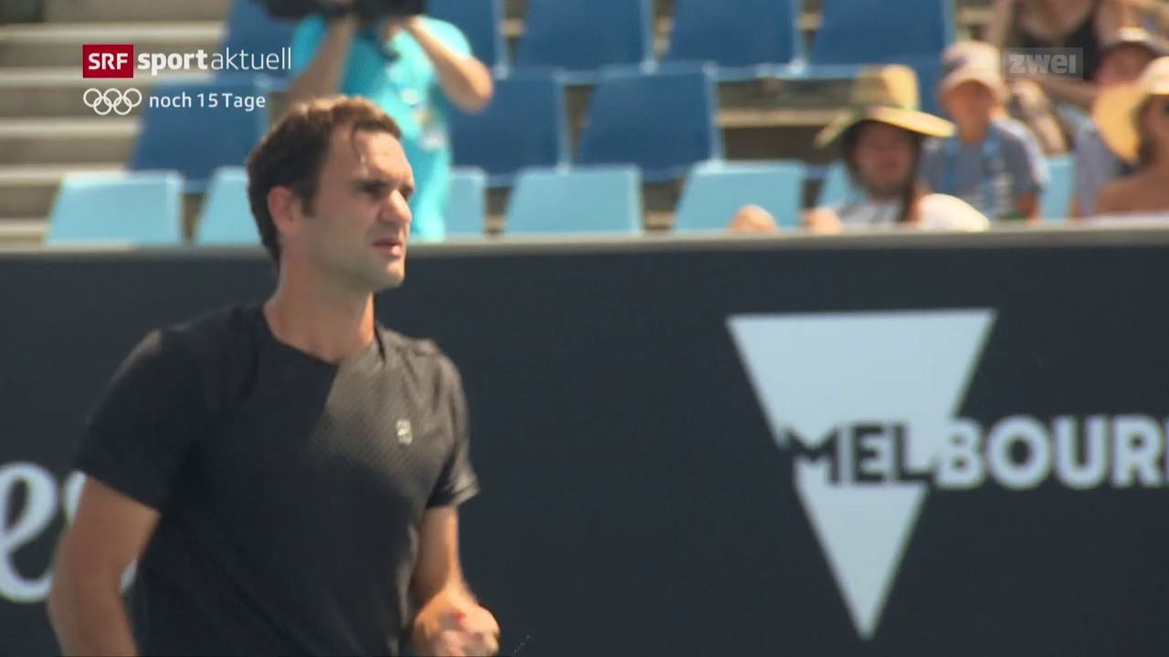 Tennis: Federer vor dem Halbfinal gegen Chung
