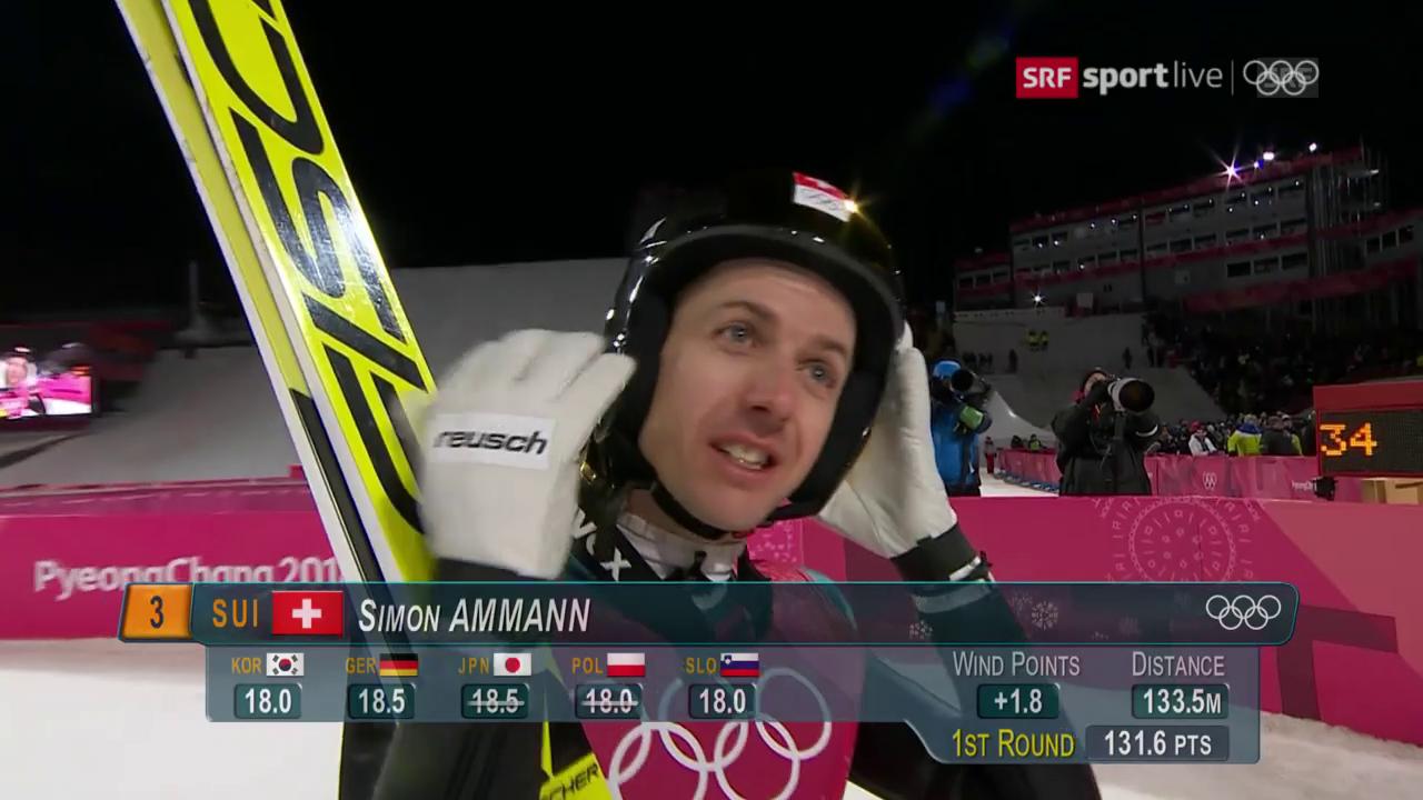 Ammanns Sprung gerät zu kurz.