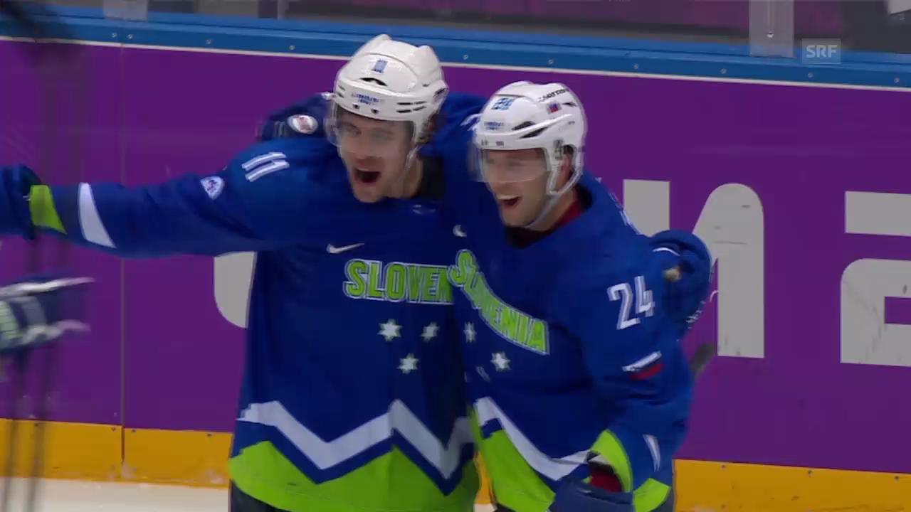 Eishockey, Zusammenfassung Slowakei-Slowenien (15.02.14)
