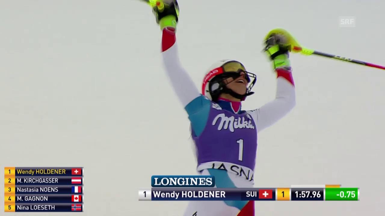 Wendy Holdener wird dank tollem 2. Lauf Zweite