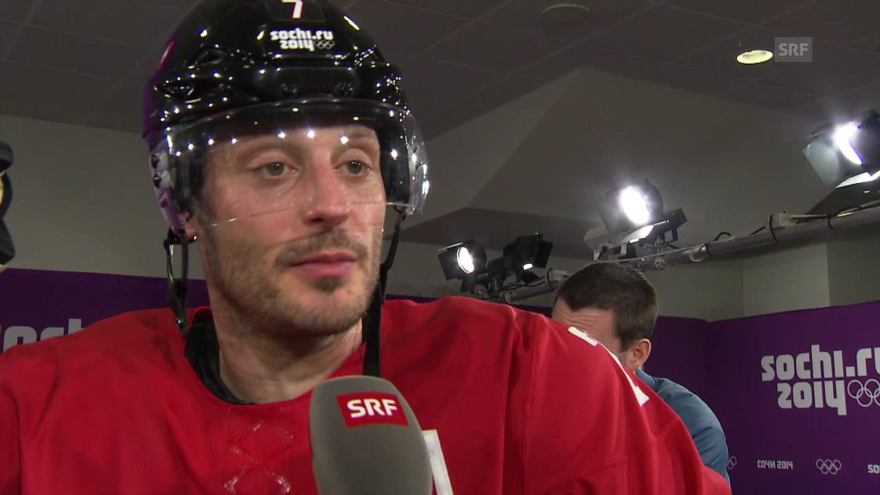 Eishockey: Schweiz - Schweden, Interview mit Mark Streit (sotschi direkt, 14.02.2014)