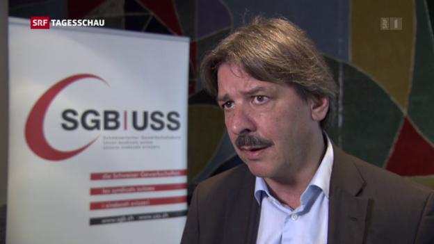 Video «Gewerkschaftsbund fordert bis zu zwei Prozent mehr Lohn» abspielen