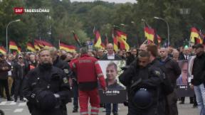 Video «Demonstrationen in Chemnitz» abspielen