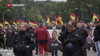 Video «Demonstrationen in Chemnitz» abspielen