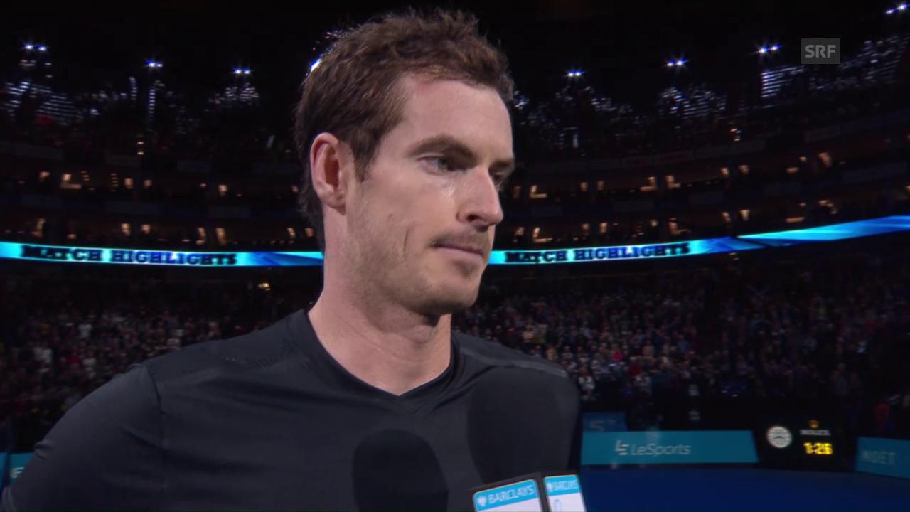 Murray: «Im 1. Satz boten sich mir nicht viele Chancen» (Engl.)