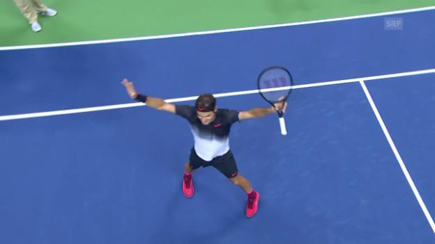 Video «Die Live-Highlights bei Federer Lopez» abspielen
