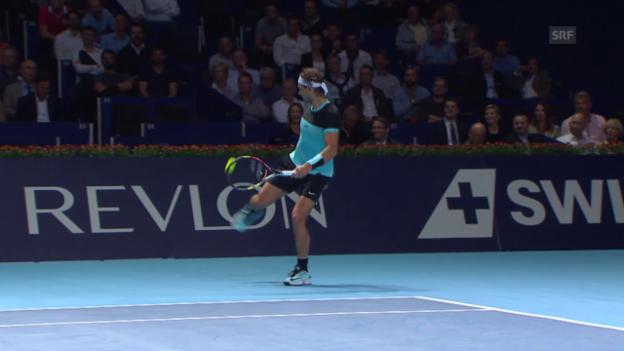 Video «Tennis: Swiss Indoors, Nadal - Dimitrov, Fussball-Einlage» abspielen