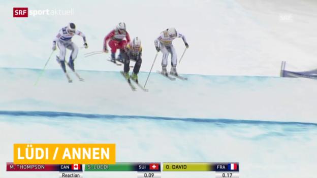Video «Skicross: Weltcup in Val Thorens» abspielen