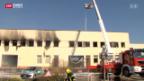 Video «Grossbrand in Satigny bei Genf» abspielen