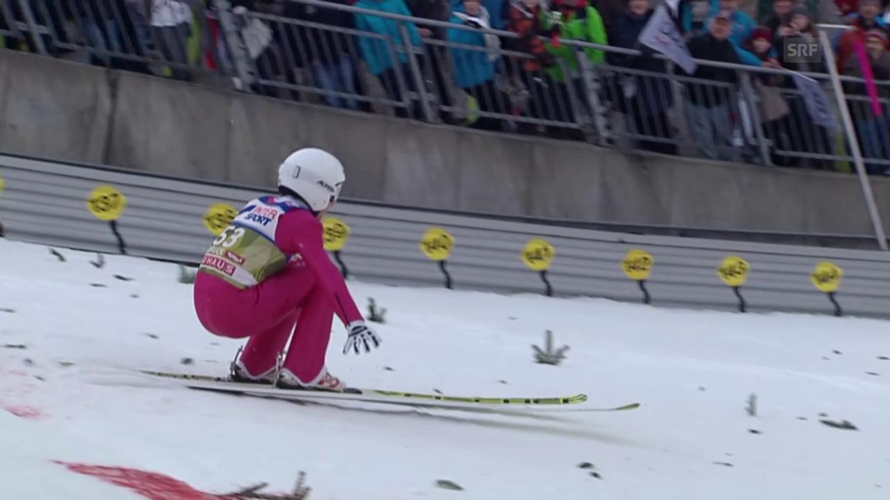 Skispringen: Vierschanzentournee, Qualifikation für das 3. Springen in Innsbruck, der Sprung von Simon Ammann