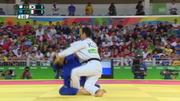 Video «Mit Ippon: Basile holt Gold im Judo» abspielen