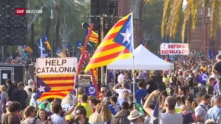 Video «Katalonien verschiebt Unabhängigkeit» abspielen