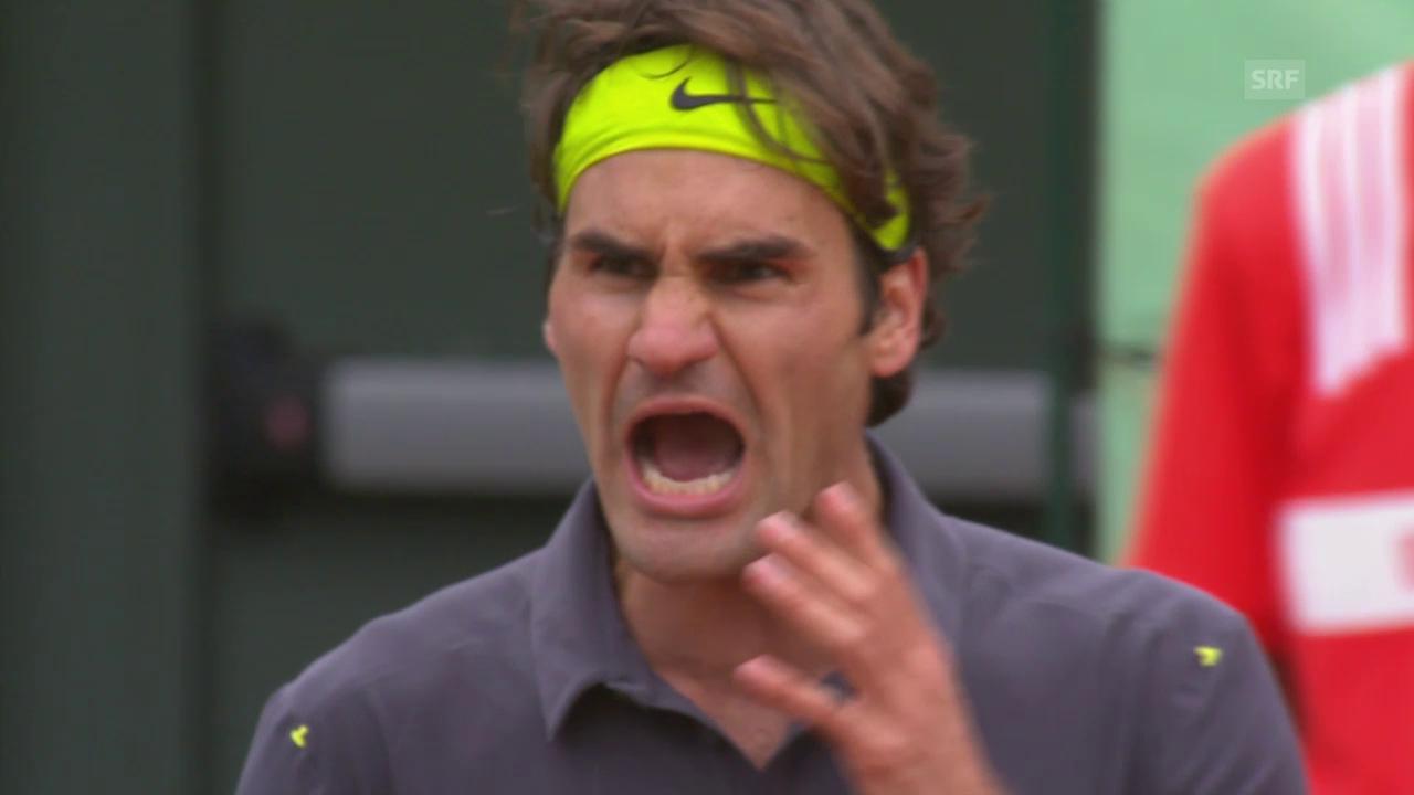 Tennis: French-Open-Serie, Federer - Del Potro 2012