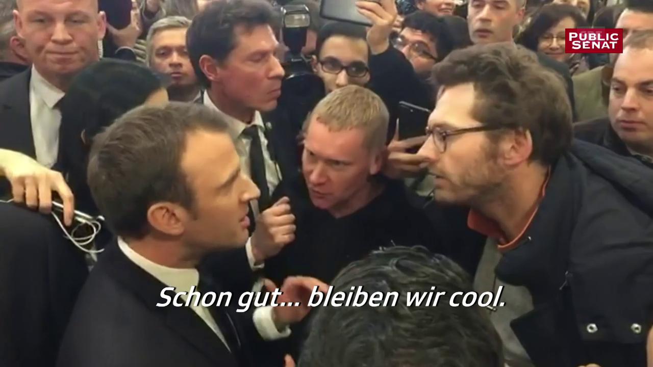 Macron mittendrin