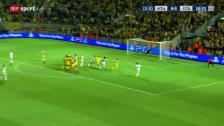 Video «Fussball: Champions League, Tel Aviv - Basel, Tor Zuffi» abspielen