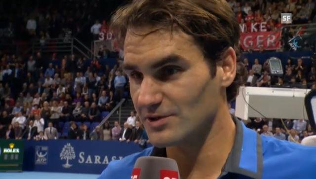 ATP Basel: Interview mit Federer