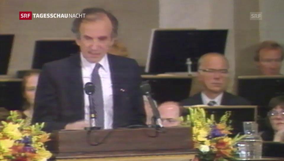 Elie Wiesel tar la surdada dal premi Nobel 1986