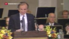 Laschar ir video «Elie Wiesel tar la surdada dal premi Nobel 1986»