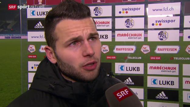 Video «Fussball: SL, Stimmen zu Luzern - YB» abspielen