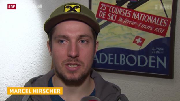 Video «Ski alpin: Weltcup der Männer, Vorschau auf Riesenslalom in Adelboden, Marcel Hirscher» abspielen