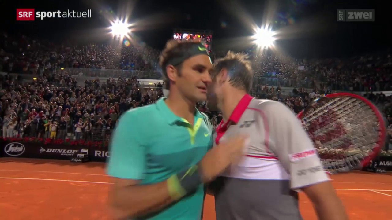 Tennis: ATP-Halbfinal in Rom, Wawrinka - Federer