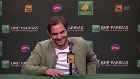 Link öffnet eine Lightbox. Video Zu Scherzen aufgelegt: Federer über die nächste Generation abspielen