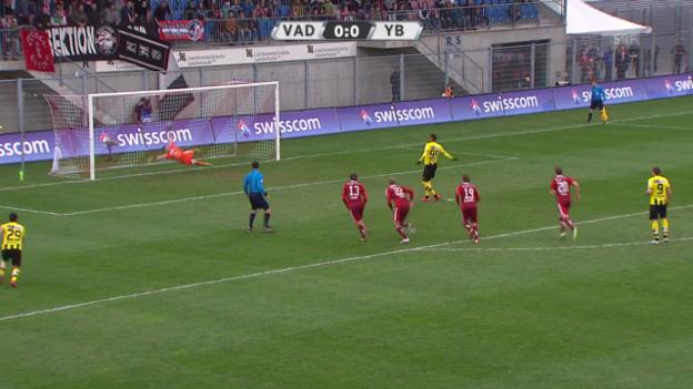 Video «Fussball: Super League, 26. Runde, Vaduz - YB, Zusammenfassung» abspielen