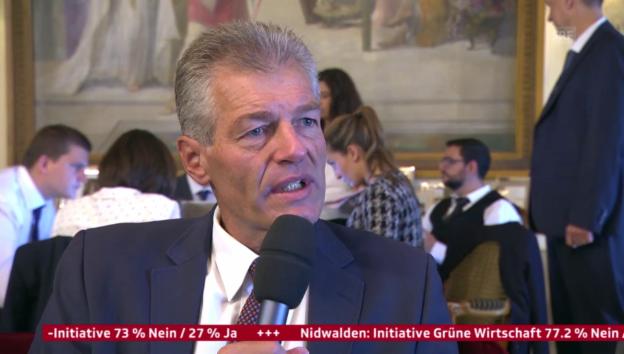Video «Heinz Karrer, Economiesuisse, zum Nein-Trend «Grüne Wirtschaft»» abspielen