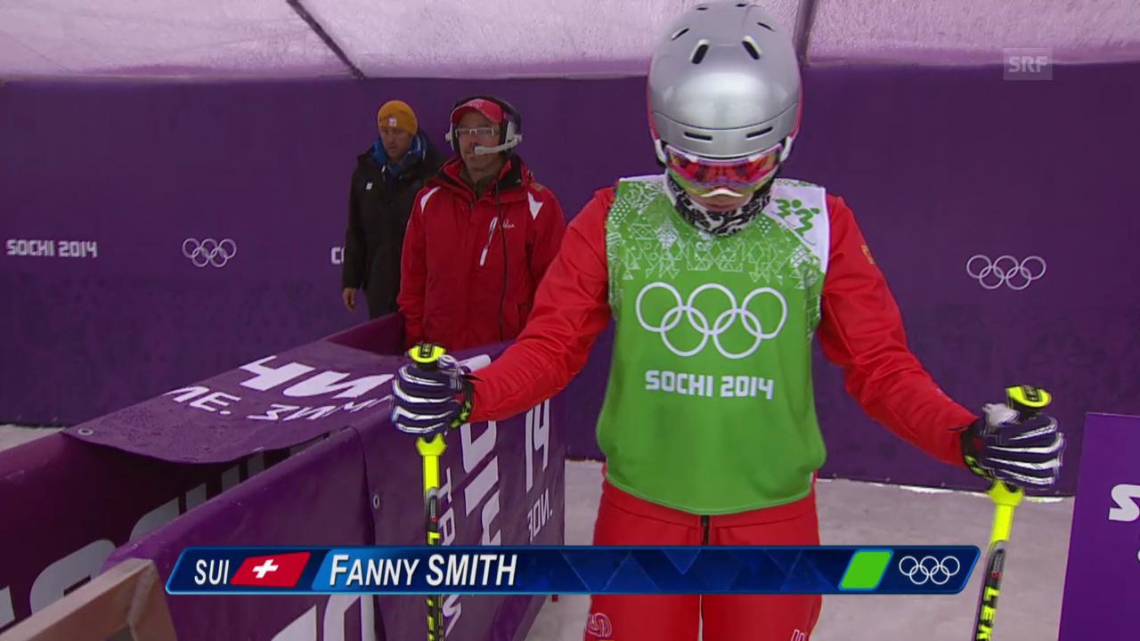 Skicross: Frauen, Achtelfinal mit Fanny Smith (sotschi direkt, 21.2.2014)