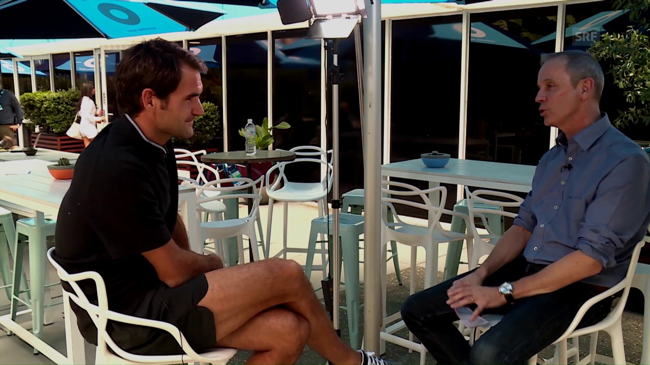 Das grosse Federer-Interview in Melbourne