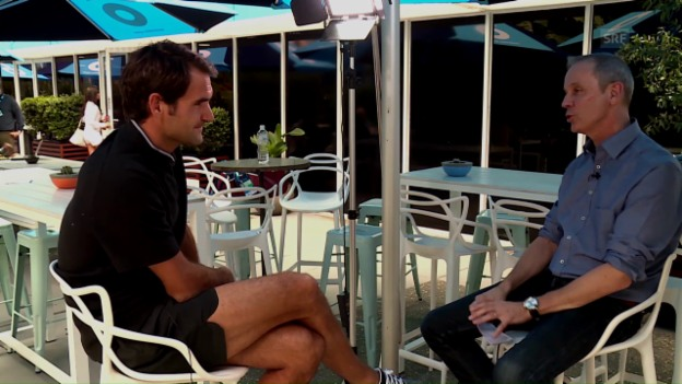 Video «Das grosse Federer-Interview in Melbourne» abspielen
