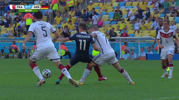 Video «FIFA WM 2014: Deutschland - Frankreich, Live-Highlights» abspielen