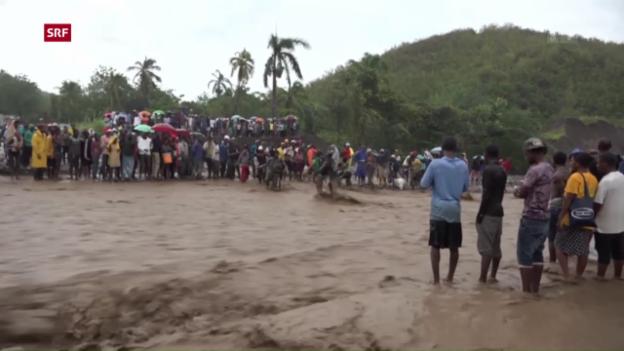 Video «Hurrikan hinterlässt massive Verwüstungen in Haiti» abspielen