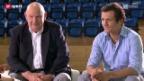 Video «Peter Bossert und Marcel Jenni von den Kloten Flyers im Gespräch» abspielen